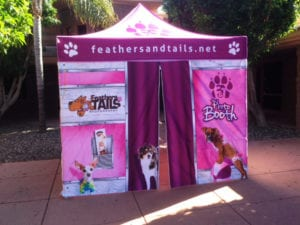 custom pop up tents - feathers and tails 01