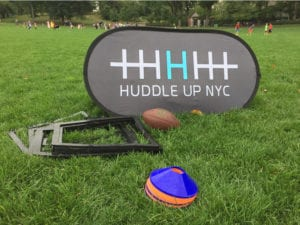 printed pop up banners Huddle Up NYC