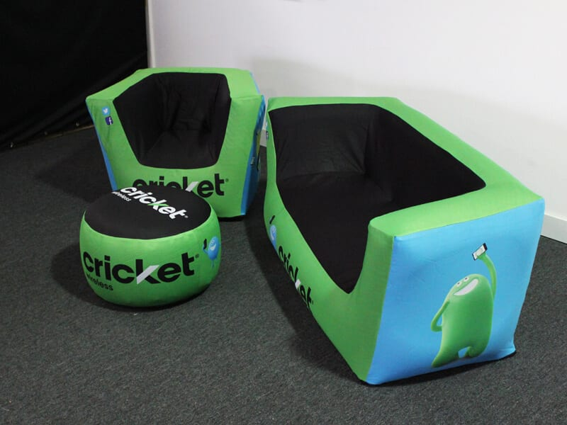 printed inflatable furniture - Cricket