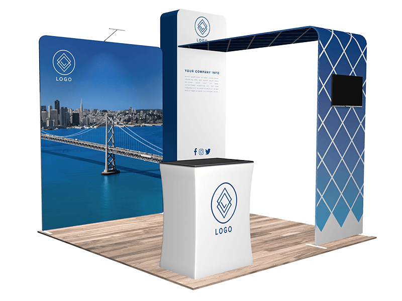 10x10 trade show booth 1101