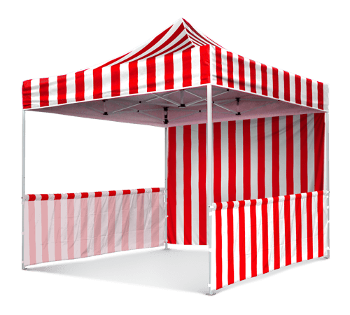 red and white stripe waterproof canopy