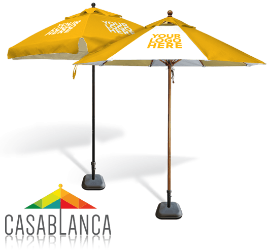 Custom cafe umbrellas